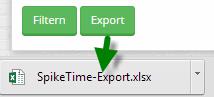 Exportierbare Zeiteinträge