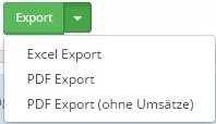 PDF Export ohne Umsätze