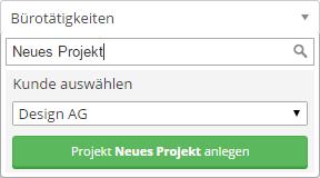 Neues Projekt anlegen