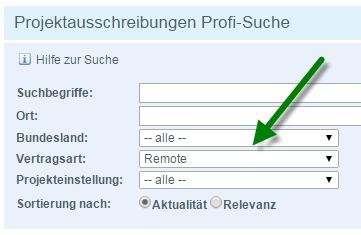 Remote Projekte bei Freelancermap